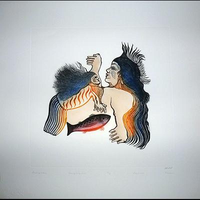 Inuit Art, Cape Dorset, cape dorset prints 2015, Saila, Pitaloosie, Guiding Sedna